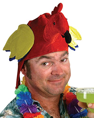 [Pirate Parrot Hat (Red) Party Accessory] (Parrot Head Hat)