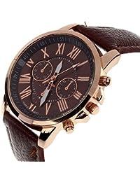 SMTSMT Women's Roman Numerals Quartz Wrist Watch-Brown