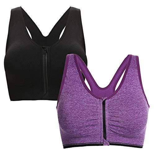 Yoga Tama Correr Ejercicio Plus Correr Mujer Morado Acolchado Sujetador Aibrou B o deportivo Negro AnFBxTtq