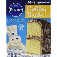 Pillsbury Moist Supreme Golden Butter Recipe Cake Mix, 15.25 Ounce