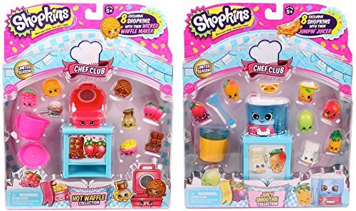 Shopkins Chef Club Bundle: Hot Waffle Collection and Juicy Smoothie Collection