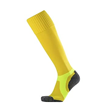 WXMDDN-Calcetines de fútbol/Toallas de fútbol con Fondo de Toalla/Calcetines Largos Antideslizantes de Tubo/Calcetines Deportivos,Amarillo: Amazon.es: Hogar