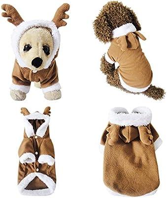 Mogoko Disfraz de Papá Noel para Perros y Gatos, Disfraz de Reno ...