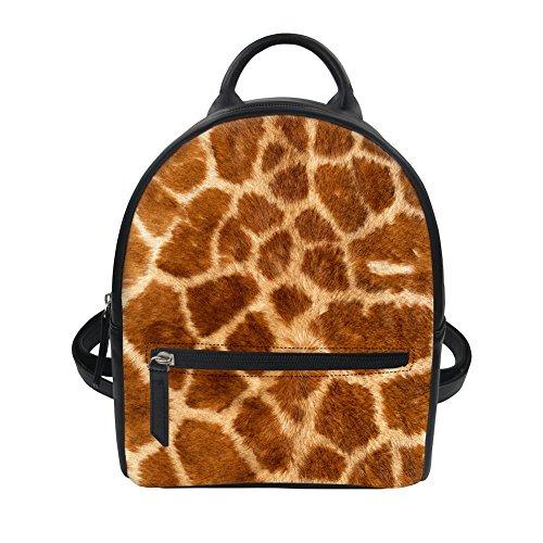 Women Purse Instantarts Backpack Waterproof 3 Girl Fashion Pattern for Mini Leather PU 8f8Z4q