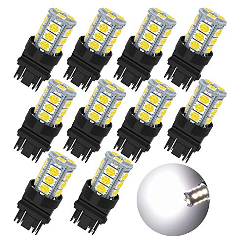 3157 LED Bulb Super Bright 18-SMD 5050 Chips 3056 3156 3057 4157 LED Bulb Only Replacement for Brake Lights,Pack of 10pcs