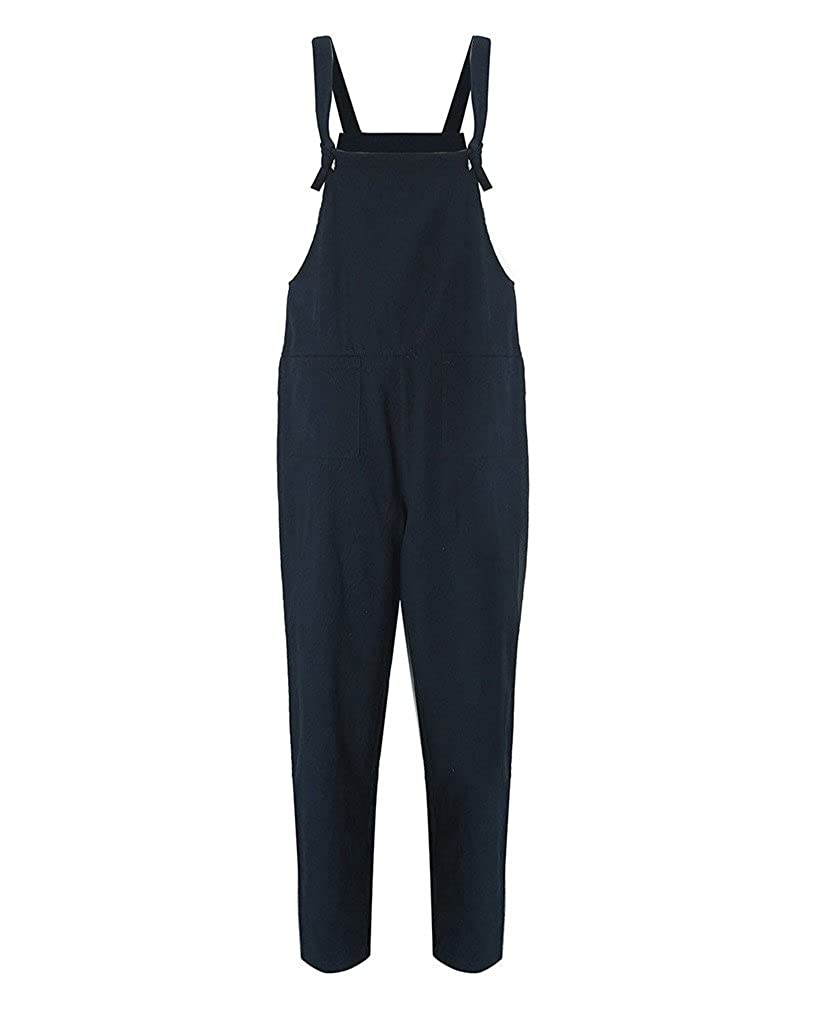 b6ad7f9df49b Hibote Women Jumpsuit Casual Baggy Dungarees Overalls Loose Fit Jumpsuit  Playsuit Pants Trousers  Amazon.co.uk  Clothing