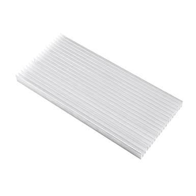 Delaman Heat Sink 30014020MM Rectangle Aluminum LED Heat Sink Cooling Heat Sink for High Power Household LED Light Fish Tank LED Devices