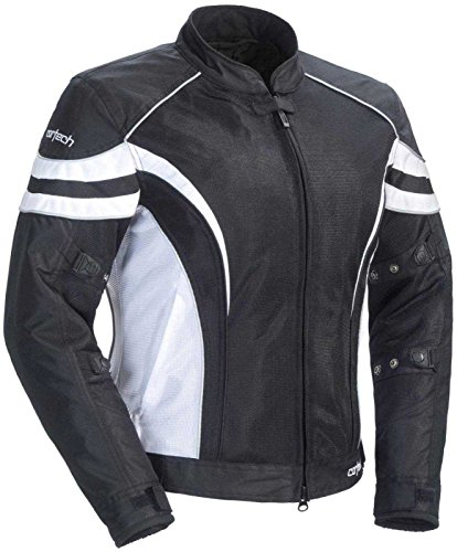 Cortech LRX Air 2.0 Women's Textile On-Road Motorcycle Jacket - Black/White / Tall (Road Two Stage Air Filter)