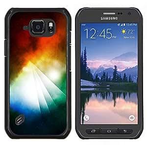 For Samsung Galaxy S6Active Active G890A Case , Pirámide abstracto colorido- Diseño Patrón Teléfono Caso Cubierta Case Bumper Duro Protección Case Cover Funda