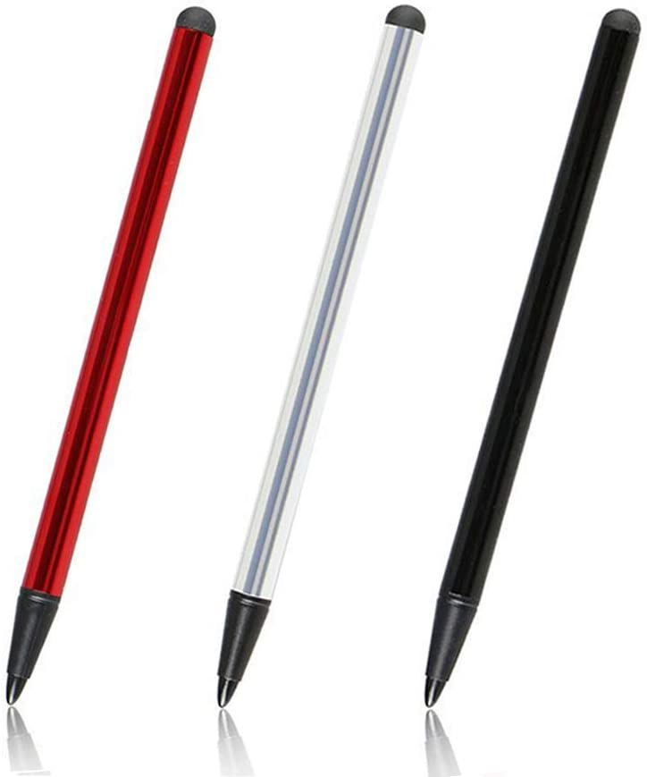 Goodtechnical Capacitive and Resistive Stylus Pen,Rubber Nib & Hard Tip 2 in 1 Series,Fine Point Stylus Tip,High Sensitivity & Precision,Universal for Samsung Galaxy and Other Touch Screen(3 Pack)
