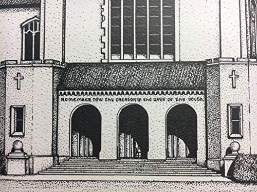 Citadel - hand-drawn pen and ink print by Campus Scenes (Image #6)