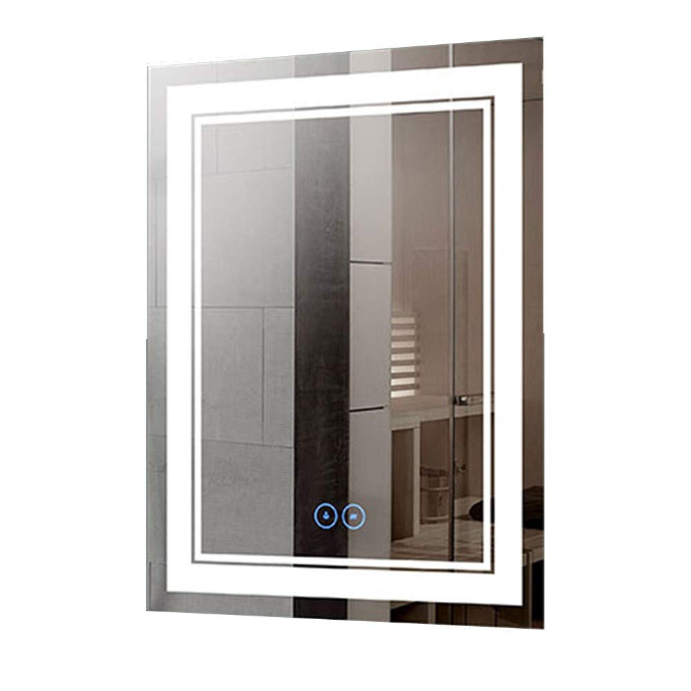 Decoraport 28 x 36 in Vertical Dimmable LED Bathroom Mirror with Anti-Fog Function DK-A-CK160-D