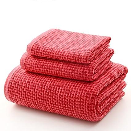 mmynl Pure algodón toalla de baño de hilo de gamuza toalla chal Kit oscuro adultos parejas