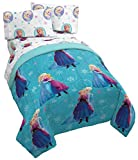Jay Franco Disney Frozen Swirl Twin Comforter - Super Soft Kids Reversible Bedding with Anna & Elsa - Fade Resistant Polyester Microfiber Fill (Official Disney Product)