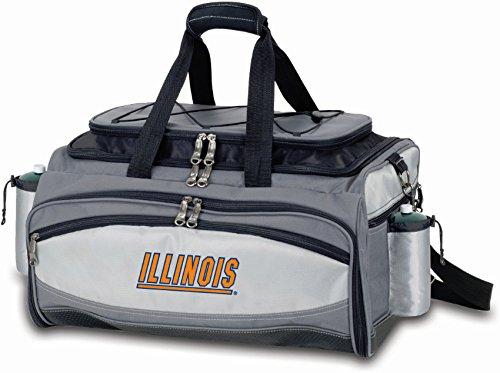 (PICNIC TIME NCAA Illinois Illini Embroidered Vulcan Set, One Size, Black)