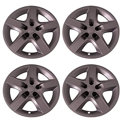 Amazon.com: Set of 4 Silver 17 Inch Aftermarket Replacement Hubcaps with Screw On Retention System - Part Number: IWC435/17S: Automotive