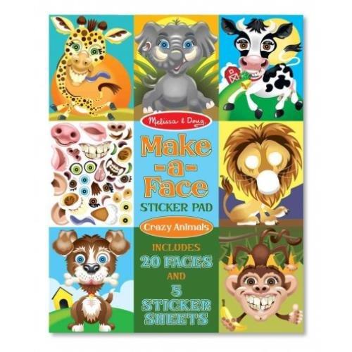 Make-a-Face Sticker Pad - Crazy Animals (Melissa & Doug)