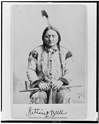 - 1884 Photo Sitting Bull Sitting Bull, half-length portrait, seated, facing front, holding calumet.