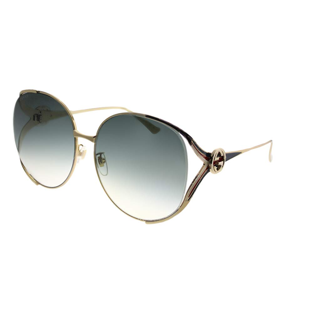 Gucci sunglasses (GG-0225-S 004) Gold - Blue - Blue Grey Gradient lenses by Gucci