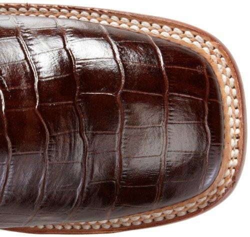 Toe Men's S Ferrini Alligator Western Belly Print Chocolate Boot RWOnaq