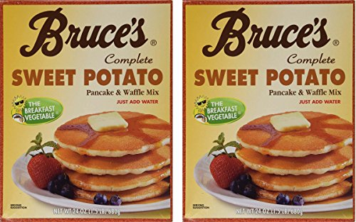 Bruce's Sweet Potato Pancake & Waffle Mix, 1.5 Lbs, (Pack of 2)