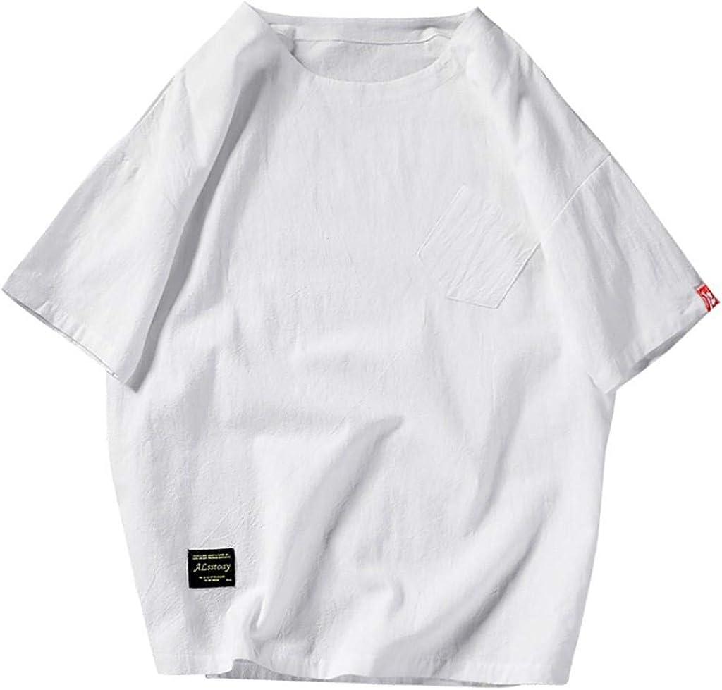 Camisetas Algodón Lino Hombre Casual Verano 2019 Nuevo SHOBDW ...