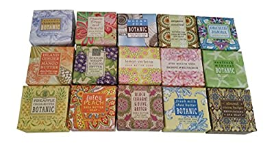Greenwich Bay Trading Company Soap Sampler 15 pack of 1.9oz bars - Bundle 15 items