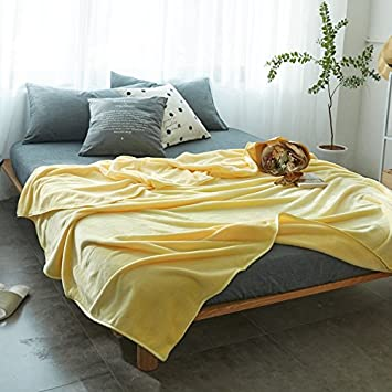 Znzbzt Alta calidad MANTA Manta de franela color sólido simple doble manta son gruesas toallas aire