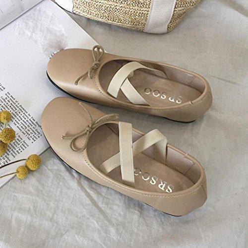 Sandalias Ohq Playa Beige Moda Chanclas Guisantes Verano Mujer Yoga Individuales Zapatos Fitness Romanas Zapatillas Ballet Baile Suaves grdadn