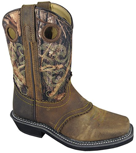 Smoky Mountain Children's Pawnee Boots - Brown Oil Distress/Camo Youth 4.5 (Childrens Crepe Sole Shoes)