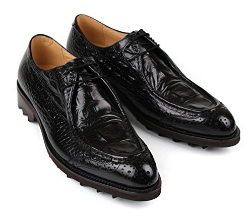 Vero Nozze Caviglia Stivali Allacciare Inverno Formale Black nbsp; Stile alto Pelle commerciale Autunno Marrone Nero Lavoro Attivit Britannico Uomini qOpw64