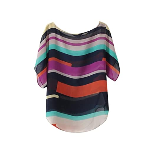 Fitfulvan Women Blouse Sexy Women Summer Perspective Casual Loose