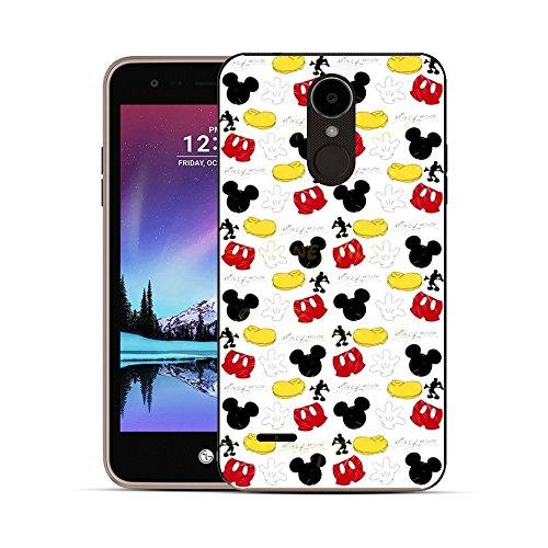 GSPSTORE LG K10 2017 case,LG K20 V case,Mickey Minnie Case Cartoon Hard Plastic Protector Cover for LG K10 2017/K20 V/K20V (Verizon)/K20 Plus/V5#06