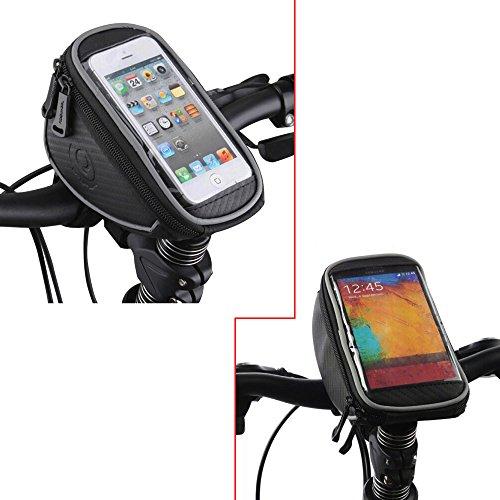 ROSWHEEL Fahrrad-Lenkradtasche Fahrrad Front Lenkertasche mit Touch-Screen-Handytasche für Mountainbikes, Fahrräder, Rennräder