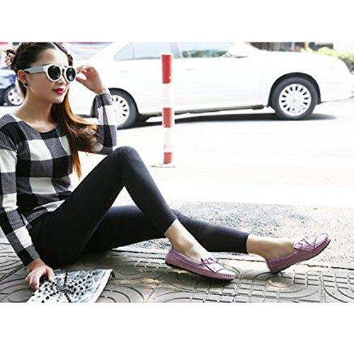 SUNAVY Damen Schmetterling Mokassins Ballerinas,2017 New Mädchen Komfortable Bow Loafers Slippers Halbschuhe Flach Fahren Schuhe(EU 34--EU 43) Purple