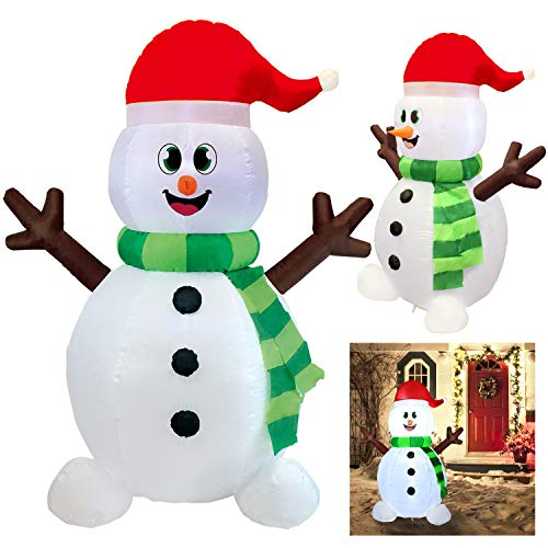 5 Ft Outdoor Inflatable Light Up Snowman