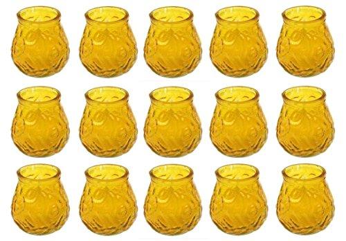 51HMkwR5HGL OSMA Werm GmbH Citronella Kerzen im Glas Windlichtglas Partylicht 15 Stück