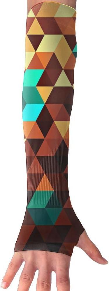 MASDUIH Colored Square Blocks Gloves Anti-uv Sun Protection Long Fingerless Arm Cooling Sleeve For Men And Women