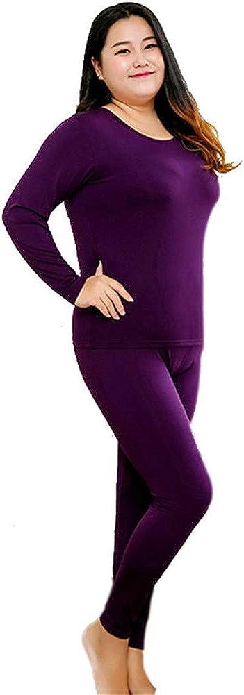 ECYC Intimo Termico Invernale con Girocollo Caldo per Donna Plus Size XL 5XL 6XL