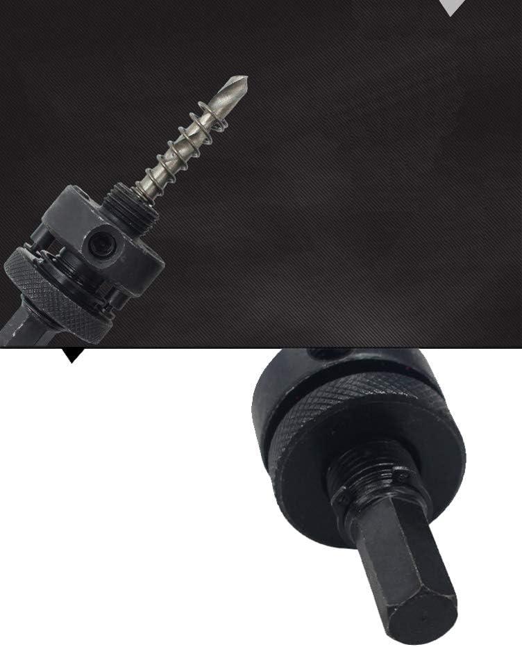 Sierras Perforadoras Dreneco Sierra de Orificio de Bi-Metal Negro /Ø 38mm Herramienta de Corte de Abridor de Agujero Para Madera Aluminio Hoja de Hierro Tubo Pl/ástico