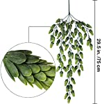 Supla-2-PCS-Artificial-Hops-Flower-Vine-Garland-Plant-Fake-Hanging-Vine-Hops-Faux-hops-Artificial-Hanging-Plants-in-Frosted-Green-Each-295-for-Indoor-Outdoor-Front-Porch-Flower-Decor-Floral-Greenery