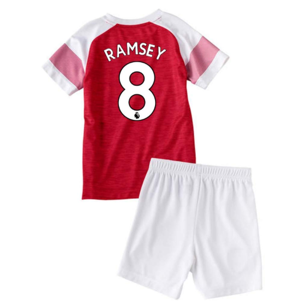 UKSoccershop 2018-2019 Arsenal Home Little Boys Mini Kit (Aaron Ramsey 8)