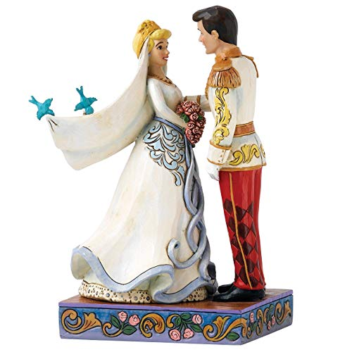 Jim Shore Disney Traditions by Enesco Cinderella and Prince Charming Wedding Figurine ()