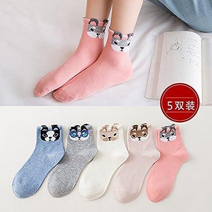 Calcetines calcetines de mujeres y en blanco y negro de la versión coreana de los estudiantes