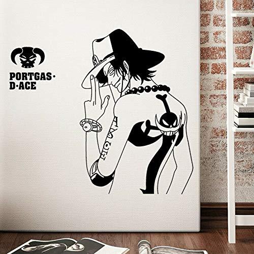Cartoon Luffy vinilo tatuajes de pared diseño pegatinas decoración ...