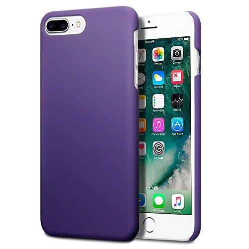 Coque iPhone 7 Plus, Terrapin Étui Caoutchoutée pour iPhone 7 Plus Case - Solide Violet