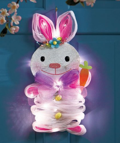 hanging-lighted-geo-mesh-bunny
