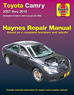 Toyota highlander lexus rx 300330350 1999 thru 2014 haynes repair toyota camry avalon lexus es 350 2007 2015 does not include fandeluxe Images