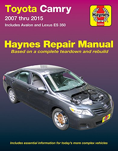 - Toyota Camry & Avalon & Lexus ES 350, 2007-2015: Does not include information specific to hybrid models (Haynes Automotive)