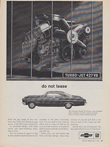 Do not tease. Chevrolet Impala SS Turbo-Jet 427 HT ad 1966 - Ss Impala Turbo